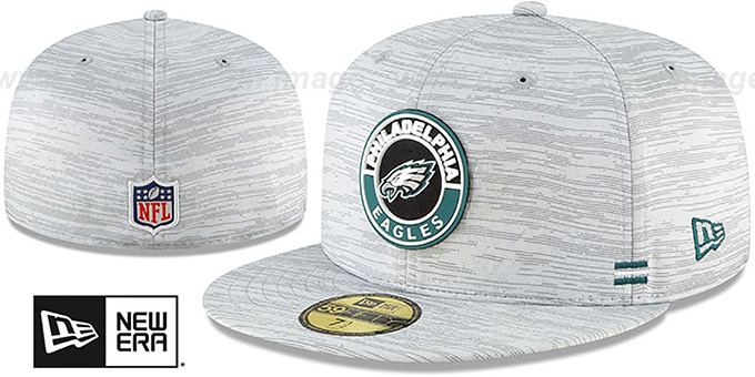 Eagles '2020 ONFIELD STADIUM' Heather Grey Fitted Hat by New Era