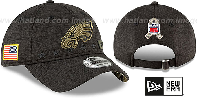 Eagles '2020 SALUTE-TO-SERVICE STRAPBACK' ST Black Hat by New Era