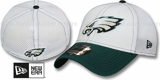 Eagles 'BLITZ NEO FLEX' Hat by New Era : pictured without stickers that these products are shipped with