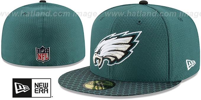 7784cbabdd647 Philadelphia Eagles HONEYCOMB STADIUM Green Fitted Hat