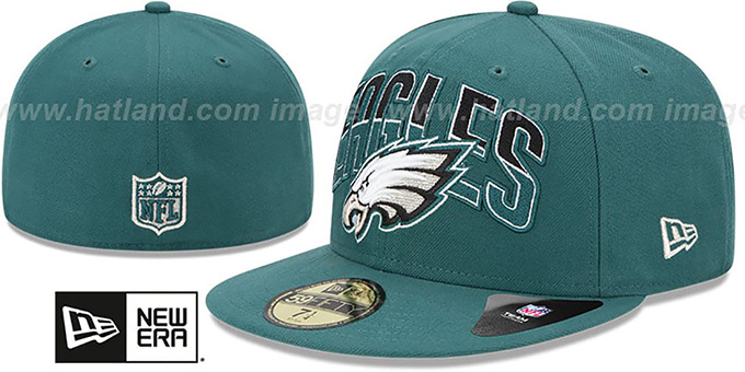 Eagles 'NFL 2013 DRAFT' Green 59FIFTY Fitted Hat by New Era : pictured without stickers that these products are shipped with