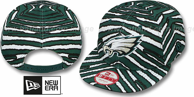 Eagles 'NFL ALL-OVER ZUBAZ SNAPBACK' Hat by New Era : pictured without stickers that these products are shipped with