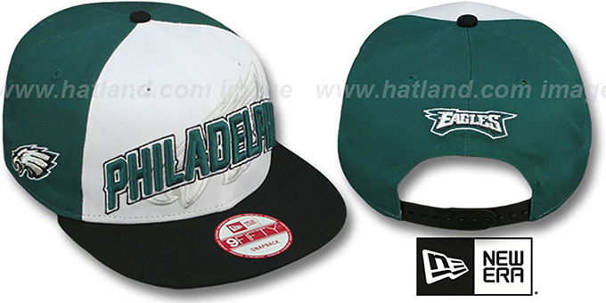 Eagles 'NFL ONFIELD DRAFT SNAPBACK' Hat by New Era : pictured without stickers that these products are shipped with