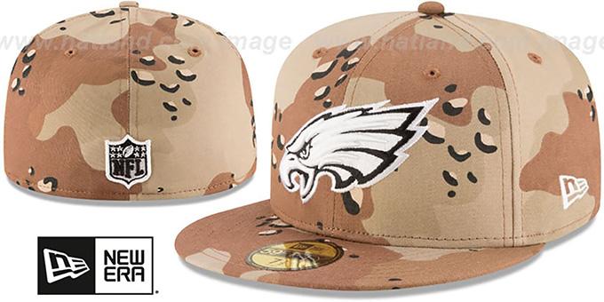 a27ff401904 Philadelphia Eagles NFL TEAM-BASIC Desert Storm Camo Fitted Hat