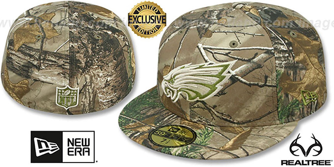 51caa404 Philadelphia Eagles NFL TEAM-BASIC Realtree Camo Fitted Hat by New Era