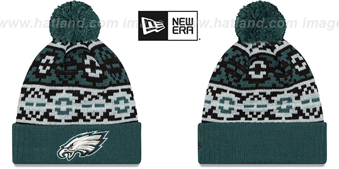 Eagles 'RETRO CHILL' Knit Beanie Hat by New Era : pictured without stickers that these products are shipped with