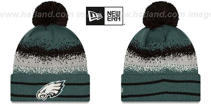 Eagles 'SPEC-BLEND' Knit Beanie Hat by New Era : pictured without stickers that these products are shipped with