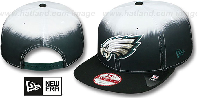Eagles 'SUBLENDER SNAPBACK' Black-White Hat by New Era : pictured without stickers that these products are shipped with