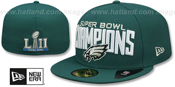 Philadelphia Eagles SUPER BOWL LII CHAMPIONS Green Fitted Hat 940a228b5