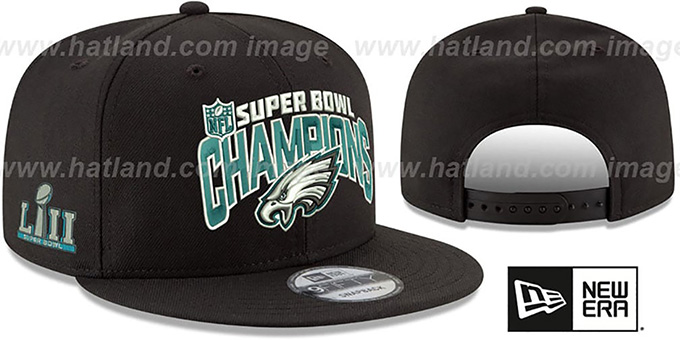 dc6c9cc2 Philadelphia Eagles SUPER BOWL LII CHAMPS SNAPBACK Black Hat