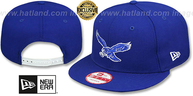 Eagles 'THROWBACK TEAM-BASIC SNAPBACK' Royal-White Hat by New Era : pictured without stickers that these products are shipped with