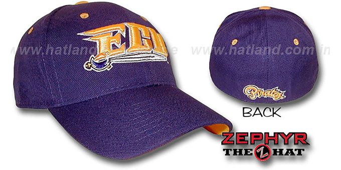 East Carolina 'DH' Fitted Hat by ZEPHYR - purple : pictured without stickers that these products are shipped with