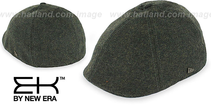 EK 'TWEED DUCKBILL' Olive Driver Hat by New Era : pictured without stickers that these products are shipped with