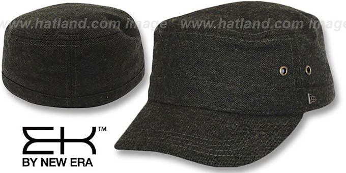 EK 'TWEED MILITARY' Olive Hat by New Era : pictured without stickers that these products are shipped with