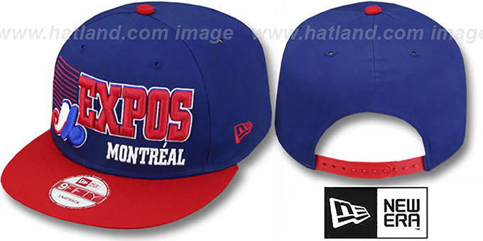 Expos '2T COOP BORDERLINE SNAPBACK' Royal-Red Hat by New Era : pictured without stickers that these products are shipped with
