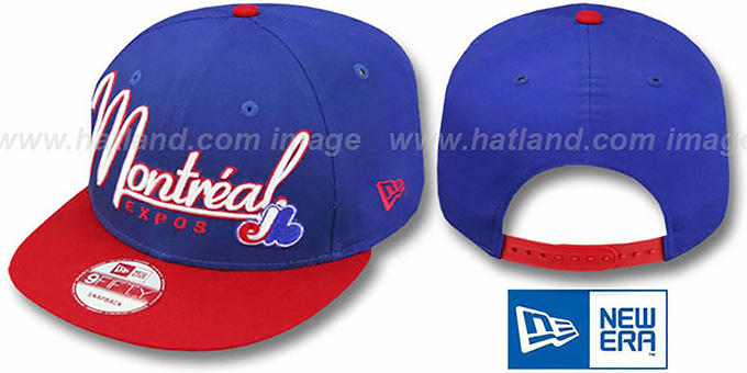 Expos '2T COOP CHARZ SNAPBACK' Royal-Red Hat by New Era : pictured without stickers that these products are shipped with