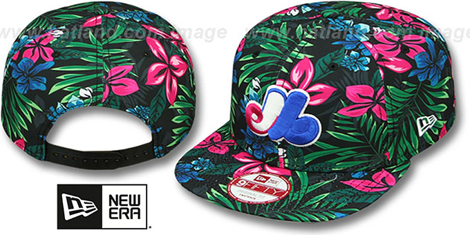Expos 'AMAZON BLOOM SNAPBACK' Hat by New Era : pictured without stickers that these products are shipped with