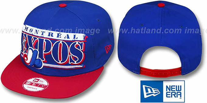 Expos COOP '2T STILL BREAKIN SNAPBACK' Royal-Red Hat by New Era : pictured without stickers that these products are shipped with