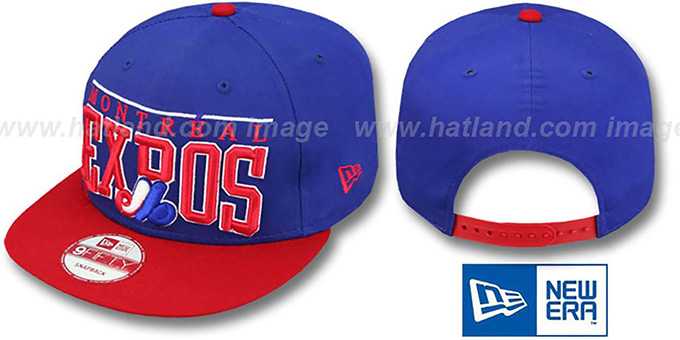 Expos COOP 'LE-ARCH SNAPBACK' Royal-Red Hat by New Era : pictured without stickers that these products are shipped with