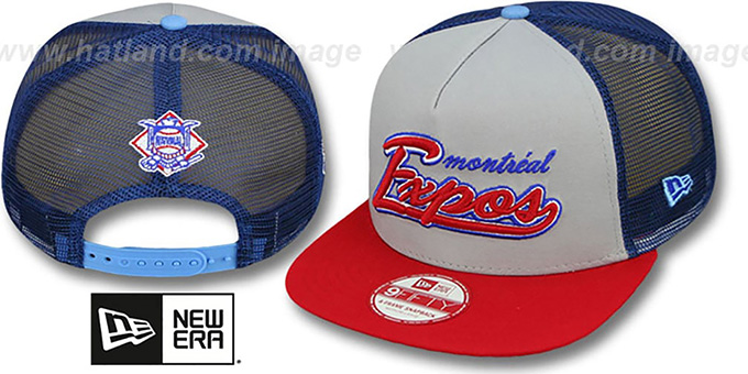 Expos COOP 'MARK-MESH A-FRAME SNAPBACK' Hat by New Era : pictured without stickers that these products are shipped with