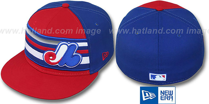 Expos COOP 'PREMIUM' Red-Royal Fitted Hat by New Era : pictured without stickers that these products are shipped with