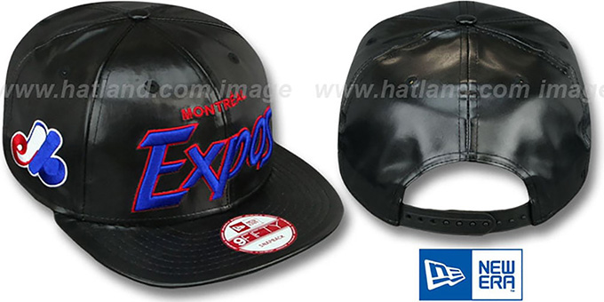 Expos COOP 'REDUX SNAPBACK' Black Hat by New Era : pictured without stickers that these products are shipped with