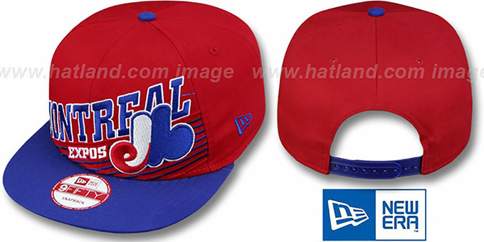 Expos COOP 'STILL ANGLIN SNAPBACK' Red-Royal Hat by New Era : pictured without stickers that these products are shipped with