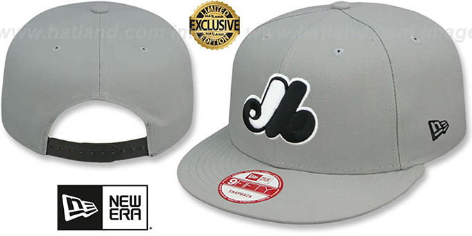Expos COOP 'TEAM-BASIC SNAPBACK' Grey-Black Hat by New Era : pictured without stickers that these products are shipped with