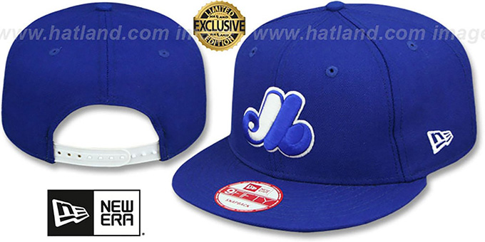 Expos COOP 'TEAM-BASIC SNAPBACK' Royal-White Hat by New Era : pictured without stickers that these products are shipped with