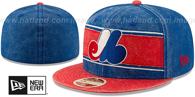 Expos 'COOPERSTOWN HERITAGE-BAND' Royal-Red Fitted Hat by New Era