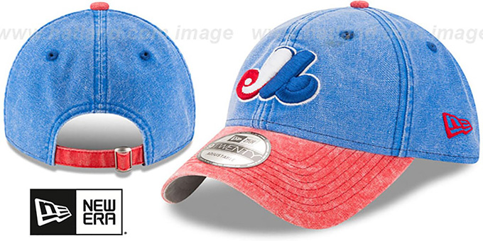 2f81ec51160 Expos  GW COOP RUGGED CANVAS STRAPBACK  Royal-Red Hat by New Era
