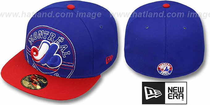 Expos 'NEW MIXIN' Royal-Red Fitted Hat by New Era : pictured without stickers that these products are shipped with