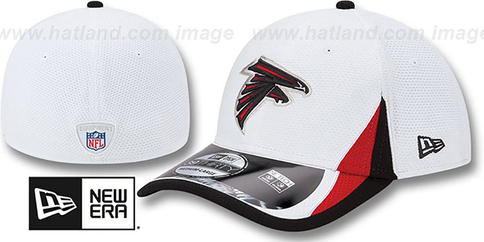 Falcons '2013 NFL TRAINING FLEX' White Hat by New Era : pictured without stickers that these products are shipped with