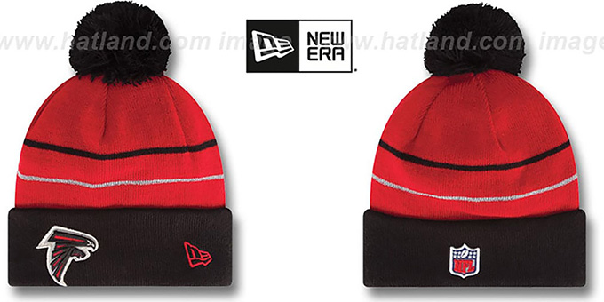 Falcons 'THANKSGIVING DAY' Knit Beanie Hat by New Era : pictured without stickers that these products are shipped with