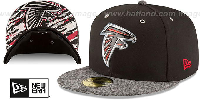 Falcons '2016 NFL DRAFT' Fitted Hat by New Era : pictured without stickers that these products are shipped with