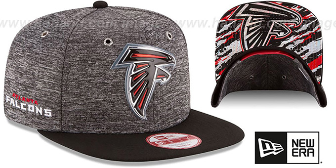 Falcons '2016 NFL DRAFT SNAPBACK' Hat by New Era : pictured without stickers that these products are shipped with