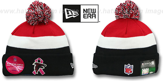 Atlanta Falcons BCA CRUCIAL CATCH Knit Beanie Hat by New Era 2c5508b9540