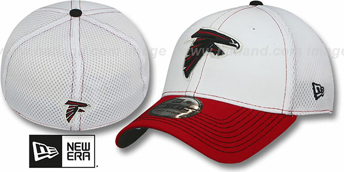 Falcons 'BLITZ NEO FLEX' Hat by New Era : pictured without stickers that these products are shipped with