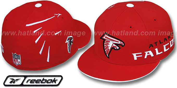 Falcons 'ELEMENTS - 2' Fitted Hat by Reebok - red