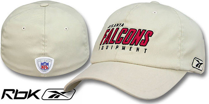 Falcons 'EQUIPMENT FLEX' Hat by Reebok - tan : pictured without stickers that these products are shipped with