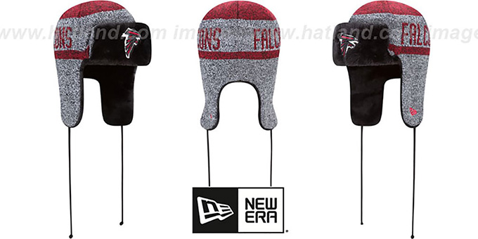 Falcons 'FROSTWORK TRAPPER' Red Knit Hat by New Era