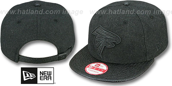 Falcons 'MELTON STINGER STRAPBACK' Hat by New Era : pictured without stickers that these products are shipped with