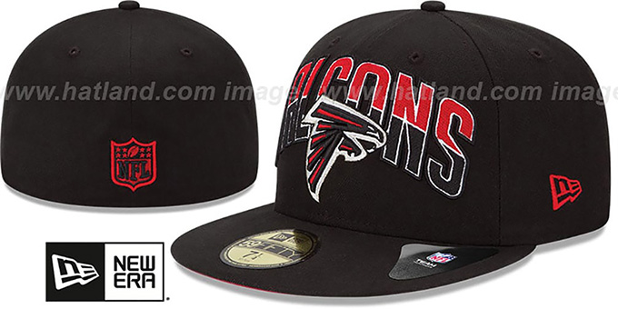 Falcons 'NFL 2013 DRAFT' Black 59FIFTY Fitted Hat by New Era : pictured without stickers that these products are shipped with
