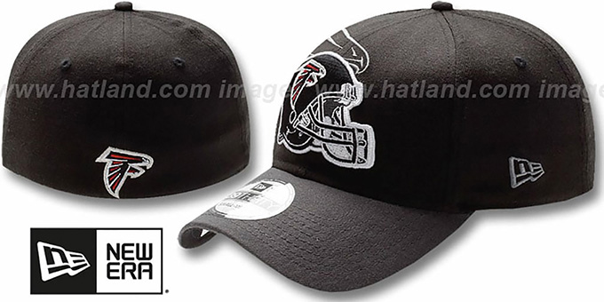 Falcons 'NFL BLACK-CLASSIC FLEX' Hat by New Era : pictured without stickers that these products are shipped with