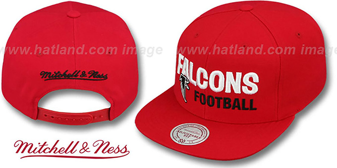 Falcons 'NFL-BLOCKER SNAPBACK' Red Hat by Mitchell & Ness