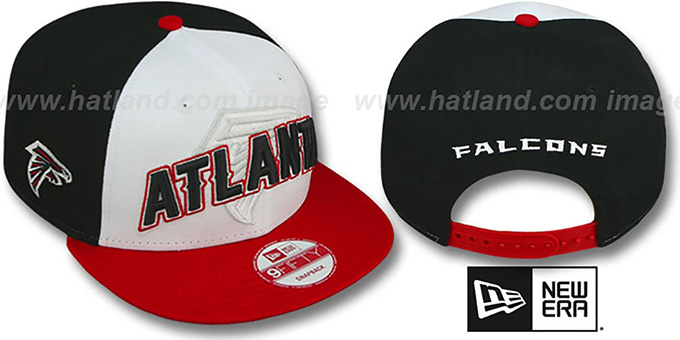 Falcons 'NFL ONFIELD DRAFT SNAPBACK' Hat by New Era : pictured without stickers that these products are shipped with