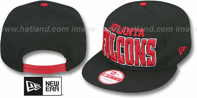 Falcons 'NFL SOLID SNAPBACK' Black Hat by New Era : pictured without stickers that these products are shipped with