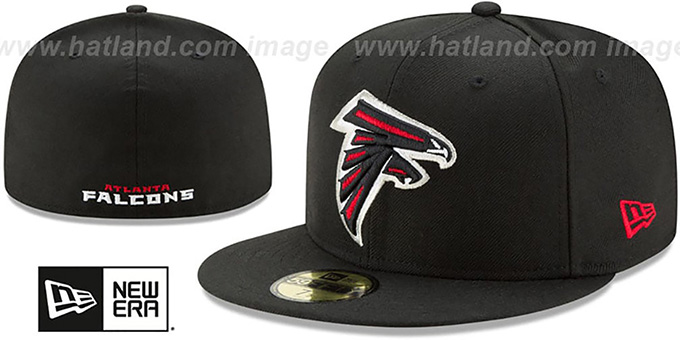 Falcons 'NFL TEAM-BASIC' Black Fitted Hat by New Era