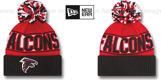 Falcons 'REP-UR-TEAM' Knit Beanie Hat by New Era : pictured without stickers that these products are shipped with