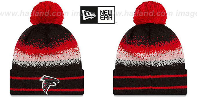 Falcons 'SPEC-BLEND' Knit Beanie Hat by New Era : pictured without stickers that these products are shipped with